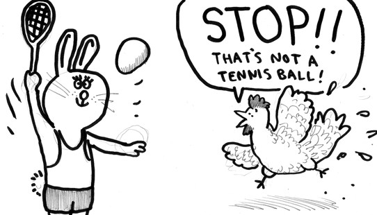 Jim Medway tennis rabbit