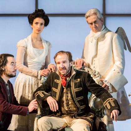 12. Tim McMullan (The Devil), Indira Varma (Ana), Ralph Fiennes (Don Juan) & Nicholas le Prevost (Roebuck).