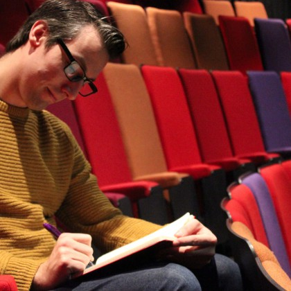 Craig Sanders in rehearsals