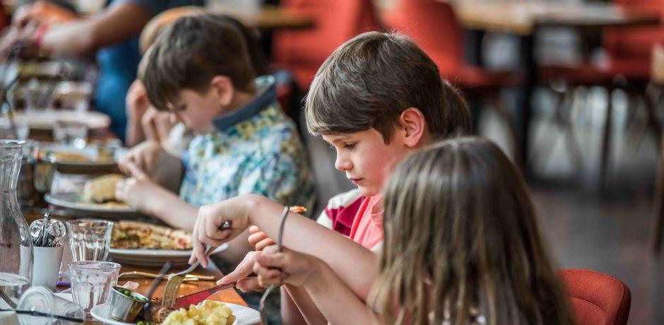 Children enjoying our kids menu