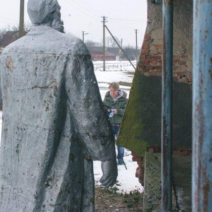 Phil Collins in Maryanivka. Photo credit - Yevgen Nikiforov