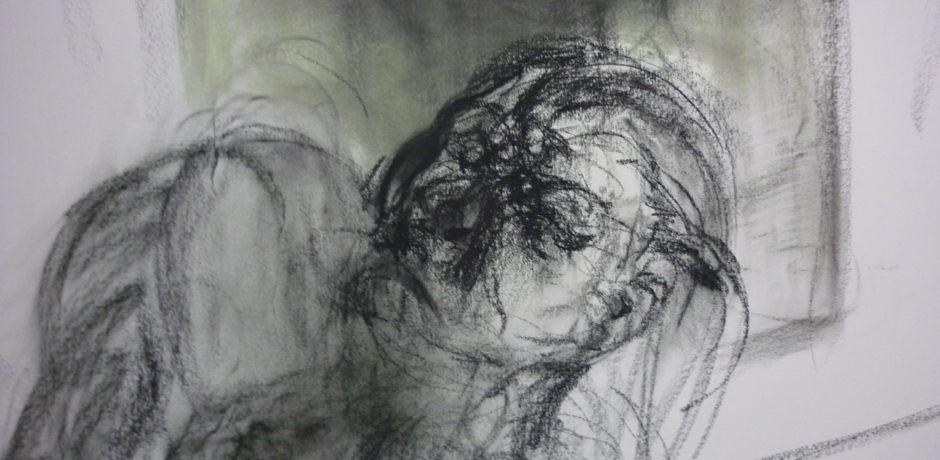 J Chuhan 'Drawing II - detail' 2011 pastel 120 x 180 cm
